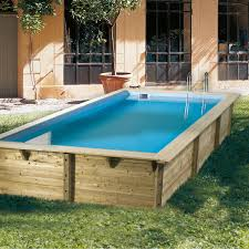 piscine hors sol bois ouessant bleu ubbink l 3 5 x l 2 x h 0 71 m