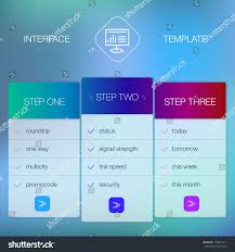 modern website ui template design transparent stock vector