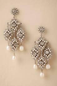 pearl chandelier earrings wedding dress bridal jewelry bhldn