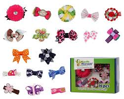baby hair clip bundle 18pc girl baby toddler ribbon bows