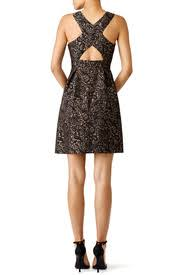 gold garland paisley dress by slate willow for 35 45 rent
