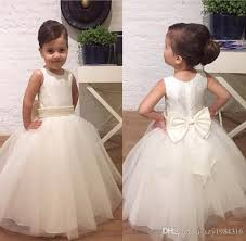 cheap tulle crew neck tulle flower girl dresses cheap floor length pearls