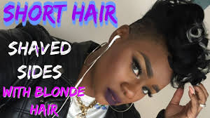 short hair with shaved sides and blonde highlights youtube
