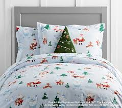 rudolph and bumble duvet cover pottery barn kids