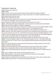 reading practice conjunctions worksheet free esl printable