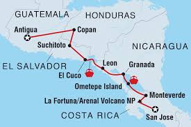 Honduras On World Map by Central American Journey Guatemala Tours Intrepid Travel Au