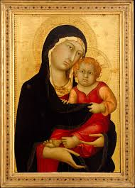 martini painting simone martini madonna and child the met