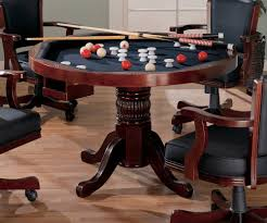 amazon com 3 in 1 game table poker pool pedestal table kitchen