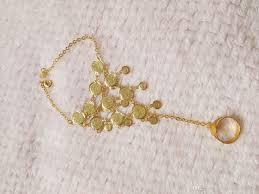 ring charm bracelet images 18 k gold plating bracelets with finger ring for women and jpg