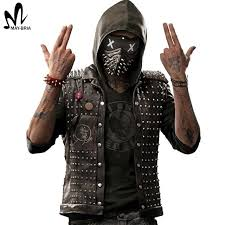 watch dogs 2 wrench cosplay costume halloween costumes men leather