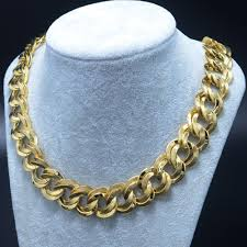 gold chain necklace wholesale images 50cm 21mm gold chain necklaces for men real gold plated jpg