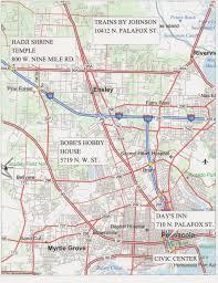 Pensacola Map Nmra Convention Ser 2009 Facilities