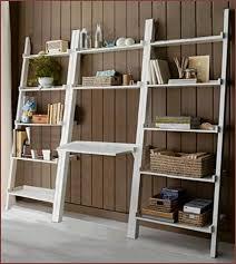 Leaning Bookshelf With Desk Bookshelf Astonishing Ladder Bookcase Ikea Remarkable Ladder