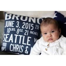 birth announcement announcement pillows