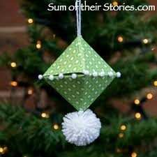 origami tree ornament sum of their stories