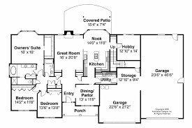 Great Room Floor Plans Single Story Classic House Plans Wellesley 30 494 Associated Designs