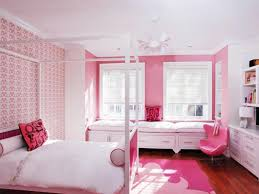 pink bedroom decorating ideas pink paint cabinet beside