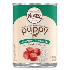 nutro large breed puppy tender lamb recipe bites in gravy