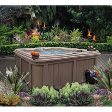 Backyard Spa Parts R Motion 6 Person 110v Tub Lounger Spa With 30 Jets Cinnabar