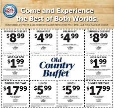 free printable old country buffet coupon october 2017