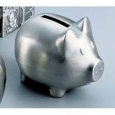 keepsake piggy bank non tarnish pewter finish monogrammed keepsake piggy bank