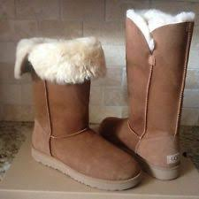 womens ugg boots size 12 ugg wilowe chestnut water resistant leather sheepskin cuff