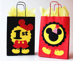 mickey mouse favor bags mickey mouse favor bags mickey mouse birthday party