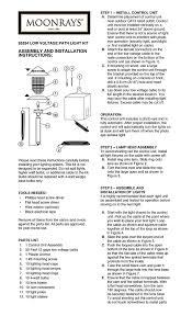 Low Voltage Landscape Lights Kit by Moonrays 95534 10 Fixture Low Voltage Plastic Lighting Kit Black