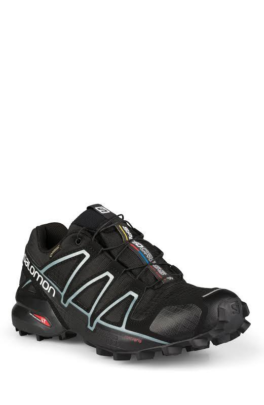 Salomon Speedcross 4 GTX Trail Running Shoe Black/Black/Metallic Bubble Blue Medium 10 L38318700-10