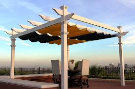 retractable shade pergola outdoor goods