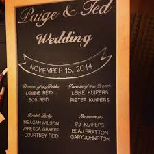 wedding program board felici events i saw the sign