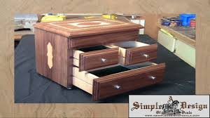 Wooden Jewellery Box Plans Free by Making An Inlay Jewelry Box Part 2 Youtube