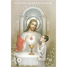 jesus with boy communion greeting card the catholic company