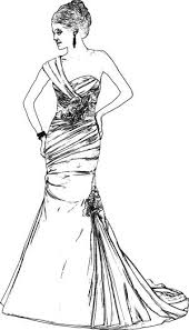wedding dress coloring pages joost langeveld origami page