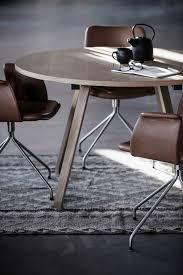 Oak Dining Chairs Design Ideas Primum Table In Oak And Primum Dining Chairs In Cognac Coloured