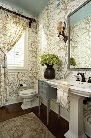 Toile Bathroom Wallpaper by 205 Best Home Decor Bathrooms Images On Pinterest Bath Colors