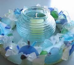 Beach Decor Sea Glass Wreath Nautical Sea Glass Decor Wreath For