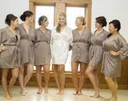 bridesmaid satin robes taupe grey robe etsy