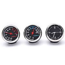 1 set 3 pcs car thermometer hygrometer quartz clock for dashboard