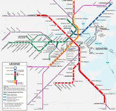 Chicago Redline Map by Map Of Boston Subway System My Blog