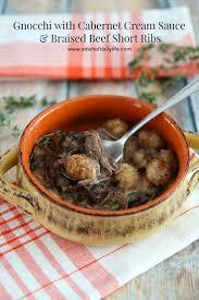 gnocchi with cabernet cream sauce u0026 braised beef short ribs a