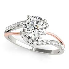 engagement rings sale images 14k white and rose gold round bypass split shank diamond jpg