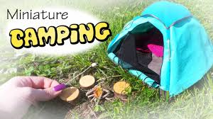 miniature camping tent u0026 campfire tutorial dolls dollhouse