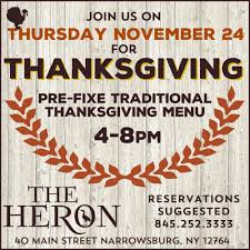 the heron restaurant 40 main street narrowsburg ny