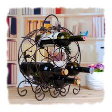 cool kitchen stuff decorative metal wine racks for your favorite
