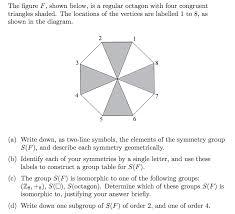 the figure f shown below is a regular octagon wi chegg com