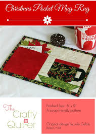 Mug Rug Designs A New Holiday Mug Rug Pattern The Crafty Quilter