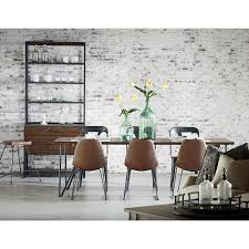 Joanna Gaines Wallpaper Magnolia Home By Joanna Gaines Boho Dining Room With Molded Shell