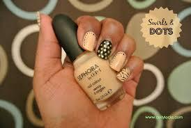 manicure monday swirls u0026 polka dots