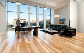 decorate an apartment with cherry hardwood flooring